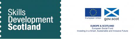 Skills Development Scotland Logo and European Social Fund Logo